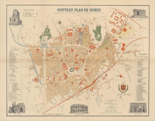 Nouveau plan de Nîmes