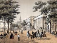 Vue du théâtre et boulevard