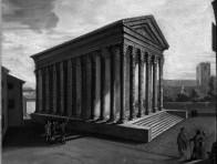 La Maison Carrée, huile sur toile, fin 18e siècle