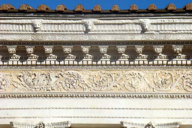 Inspired By The Decoration Of Ara Pacis And Temple Mars Ultor In Rome Frieze Maison Carree Is One Oldest Examples Gallia