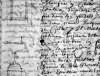 Croquis en marge du contrat de restauration de 1684