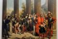 Visite de François 1er aux monuments romains de Nîmes