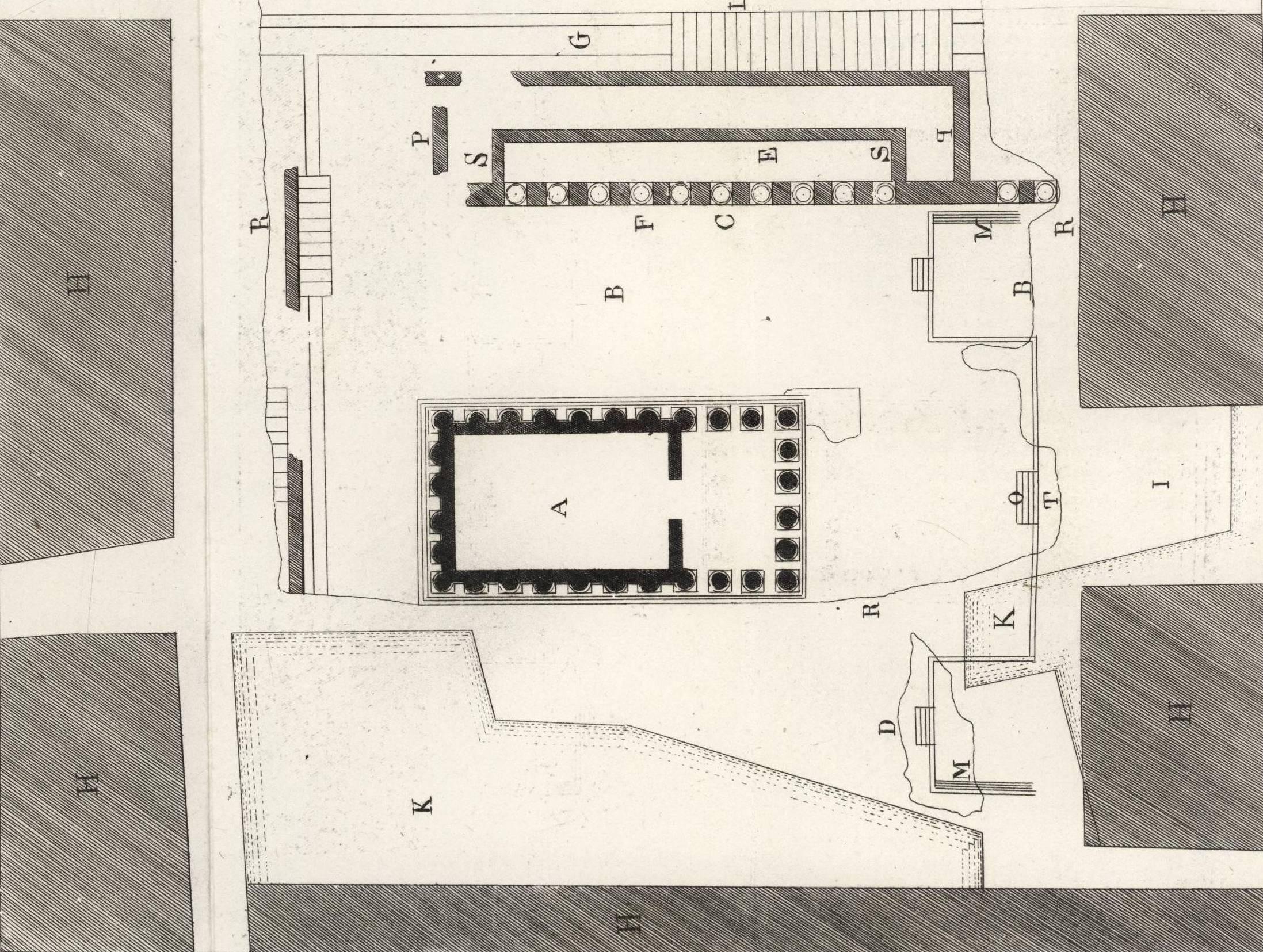 fouilles anciennes la maison carr e. Black Bedroom Furniture Sets. Home Design Ideas