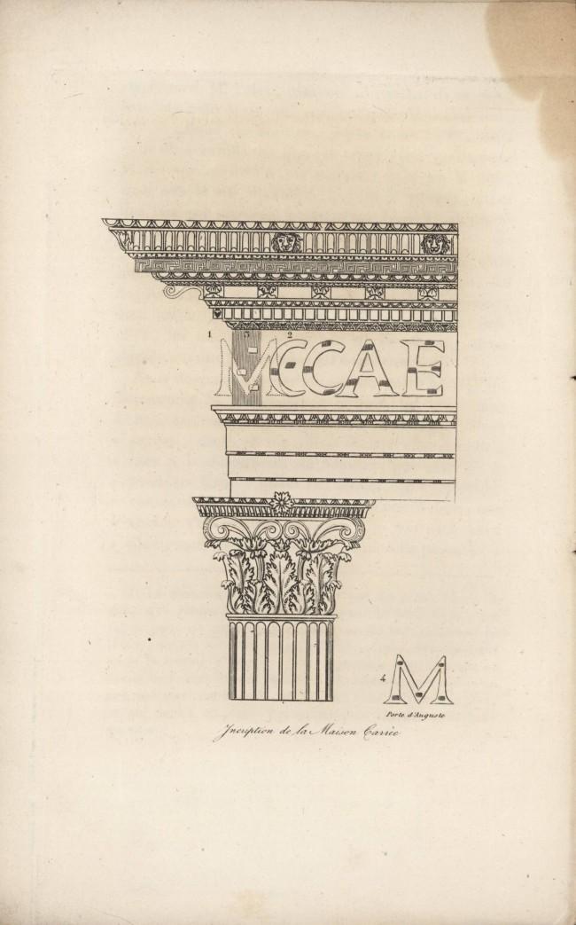 Inscription de la Maison Carrée