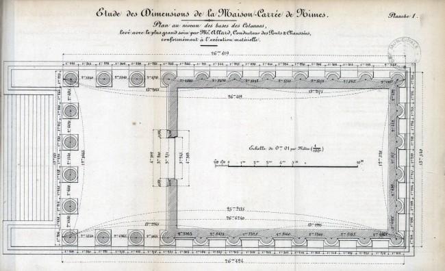 Plan Au Niveau Des Bases Des Colonnes La Maison Carree