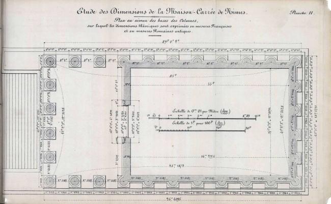 Plan au niveau des bases des Colonnes