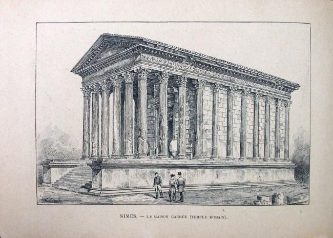 N mes la maison carr e temple romain la maison carr e for Maison de la literie nimes