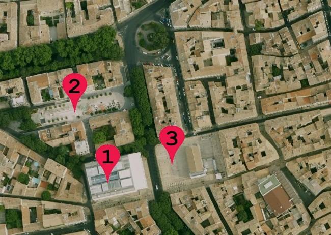 Localisation des fouilles