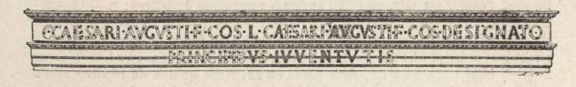 Restitution de l'inscription de la Maison carrée de Nîmes