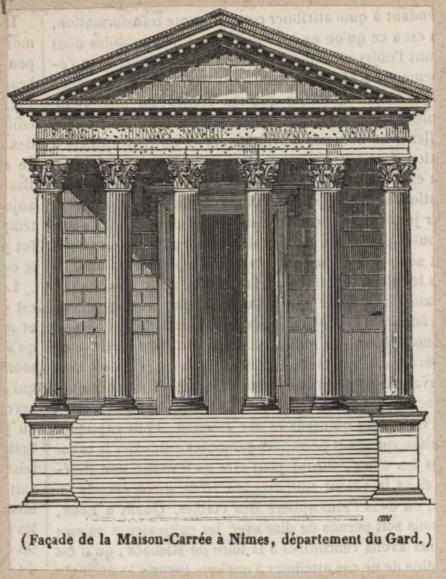 Façade de la Maison-Carrée à Nîmes