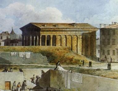 La Maison Carrée à Nîmes (détail)
