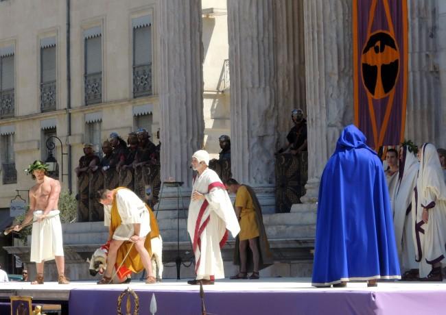 Évocation d'une cérémonie religieuse
